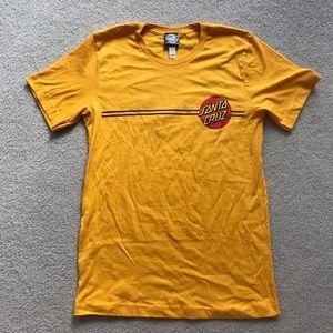 Brand New SANTA CRUZ Yellow/Gold Boyfriend Tee